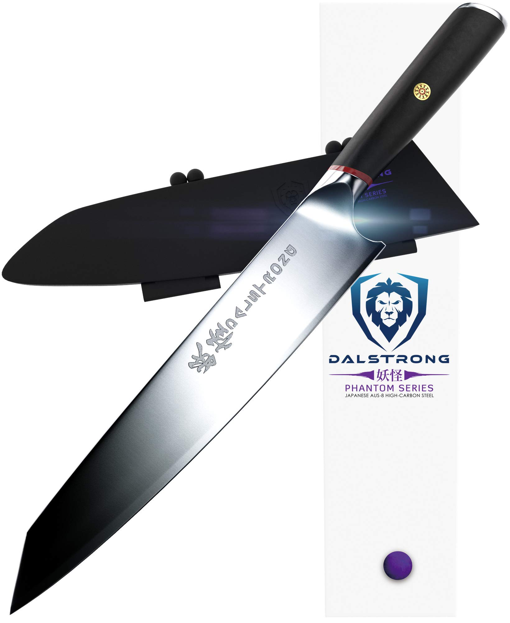 DALSTRONG Chef Knife - Phantom Series Gyuto - Japanese AUS8 Steel - 9.5'' - Sheath