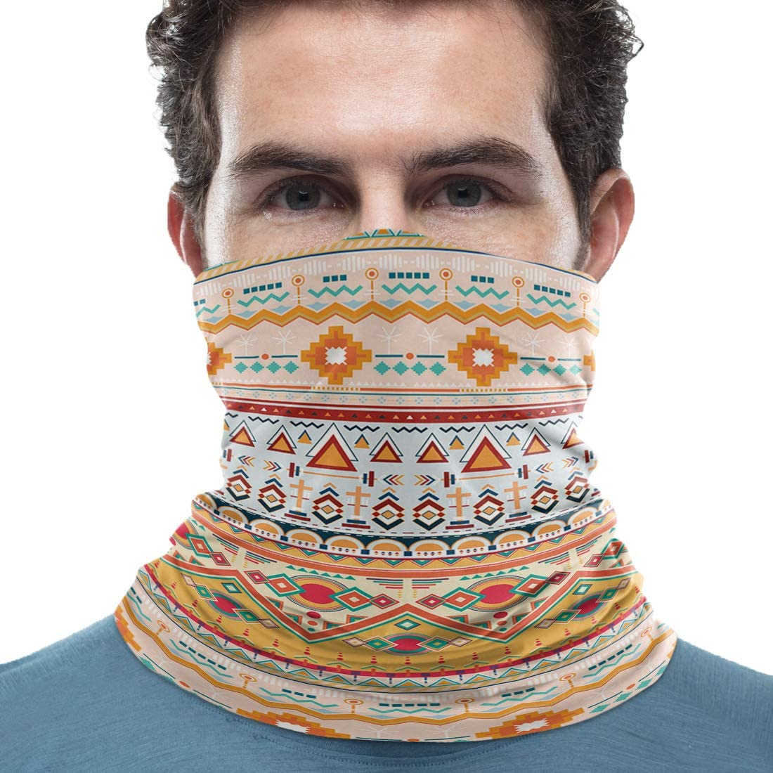 Women/Men Scarf Outdoor Bandana Headwear Sports Tube UV Face Cover for Workout Yoga Running Sleeping Sloth