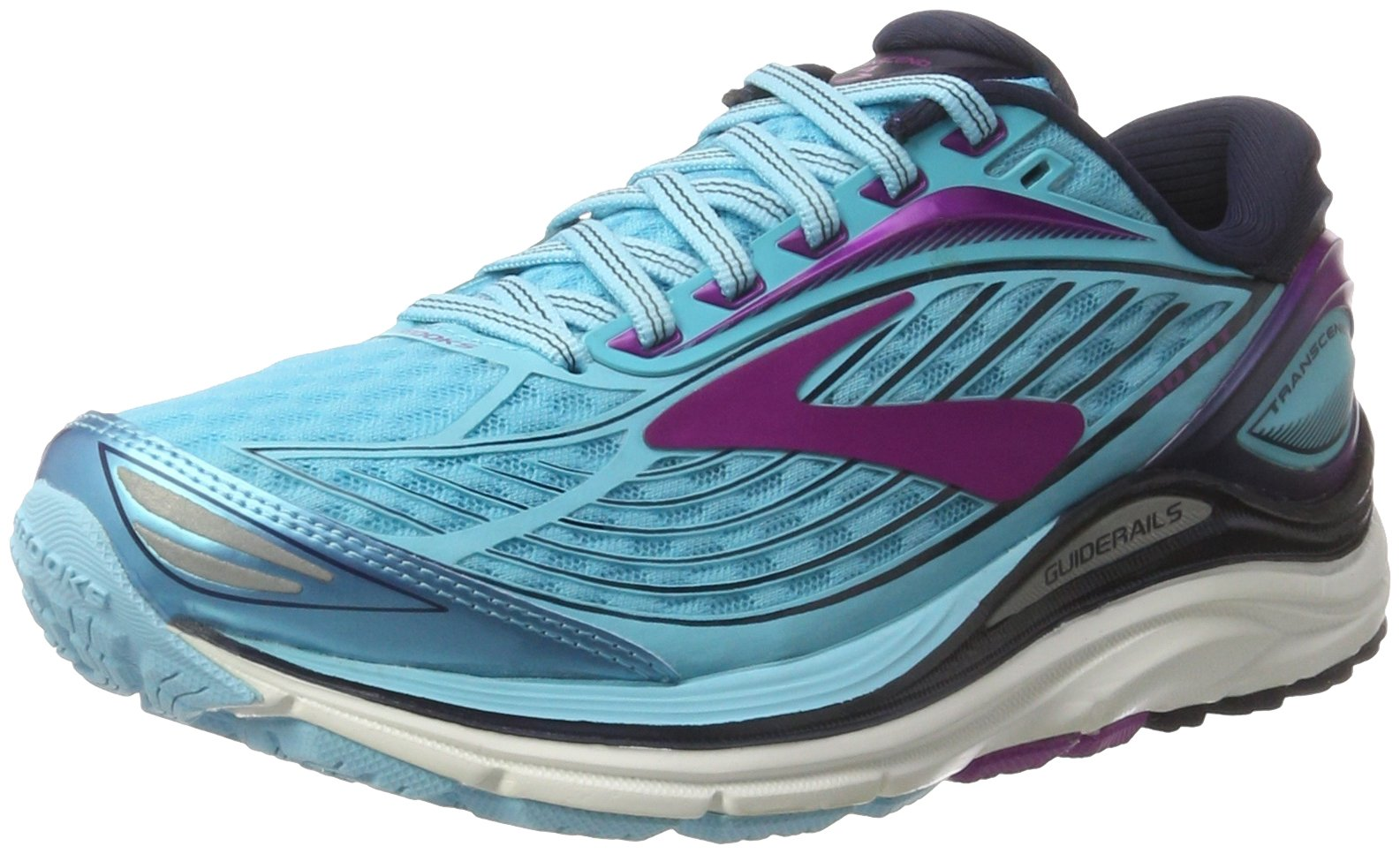 Brooks Women's Transcend 4 Bluefish/Peacoat/Purple Cactus Flower 6.5 B US by Brooks (Image #1)