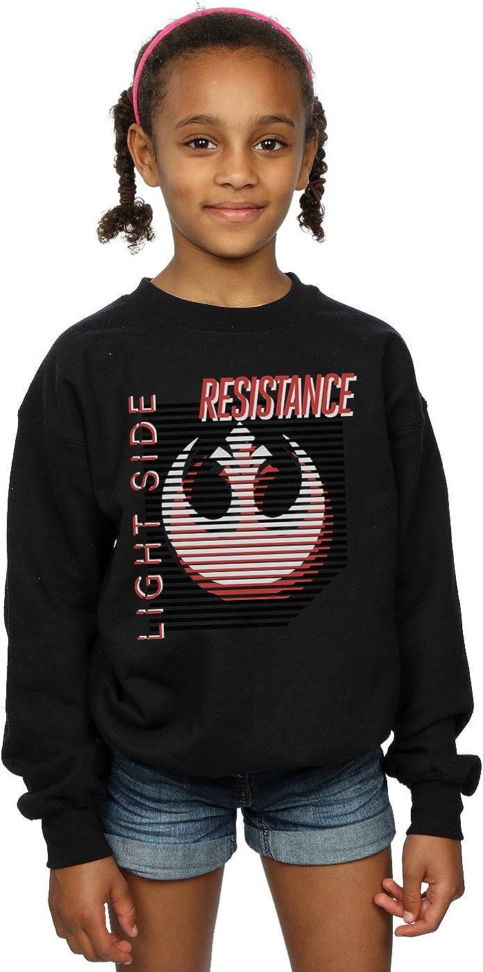 Star Wars Girls The Last Jedi Light Side Sweatshirt 9-11 Years Black