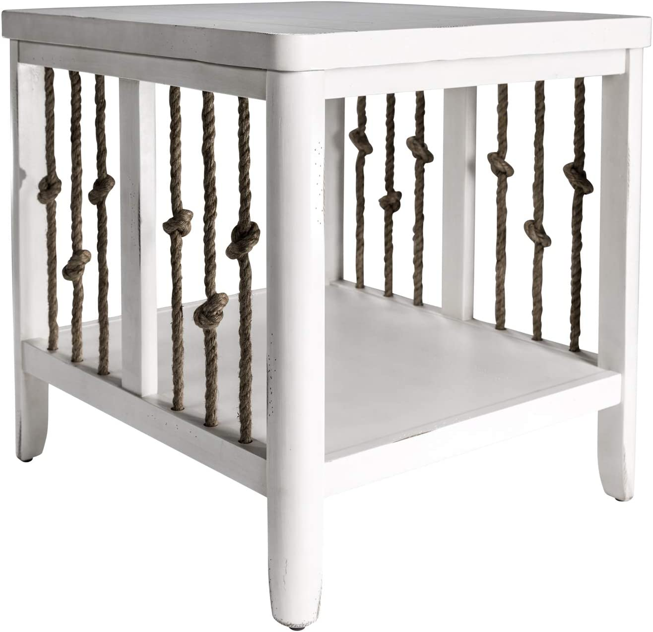 Liberty Furniture Industries Dockside II End Table, W23 x D25 x H24, White
