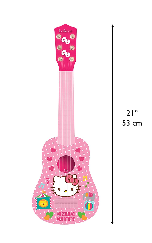 Hello Kitty - Mi primera guitarra, instrumento niña (Lexibook K200HK): Amazon.es: Juguetes y juegos