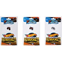 Worlds Smallest Hot Wheels Monster Trucks - Bone Shaker, Hot Wheels Racing #1, and Rodger Dodger - Bundle (Set of 3)