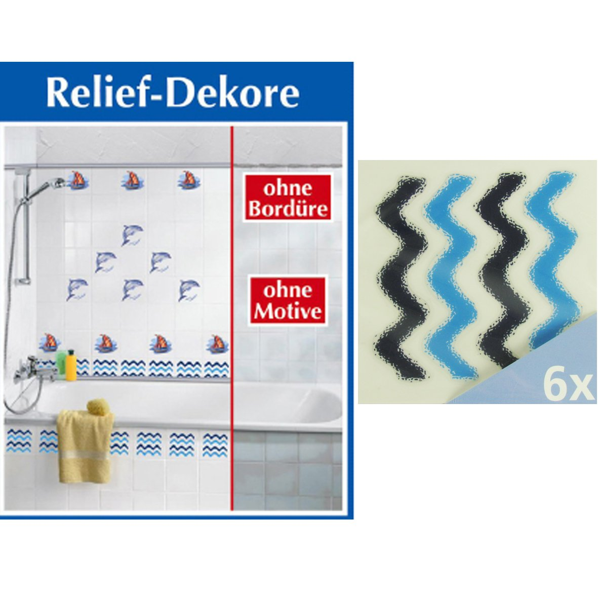 Fliesen Badezimmer Dekor 3D Welle: Amazon.de: Küche U0026 Haushalt