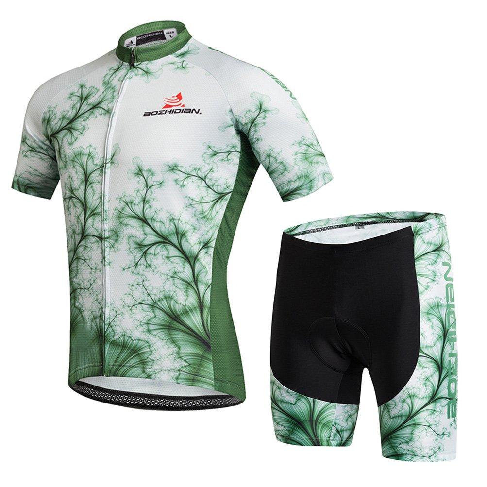 Uriahメンズサイクリングジャージーとショーツセット半袖 B071H8LDXV L(CN)|Green Trees Green Trees L(CN)