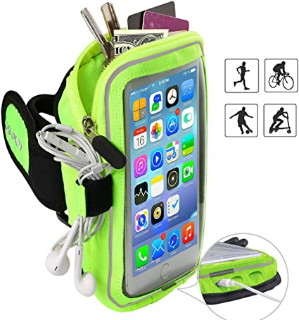 2X Running Jogging Gym Armband Case Cover Holder For iPhone 8 Plus,7 Plus,6 Plus