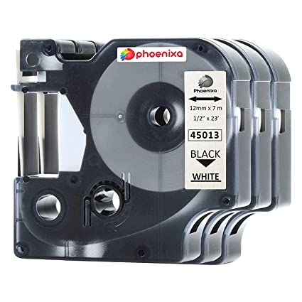 45013 VAT included Compatible Dymo D1 12mm x 7m black on white Label tapes