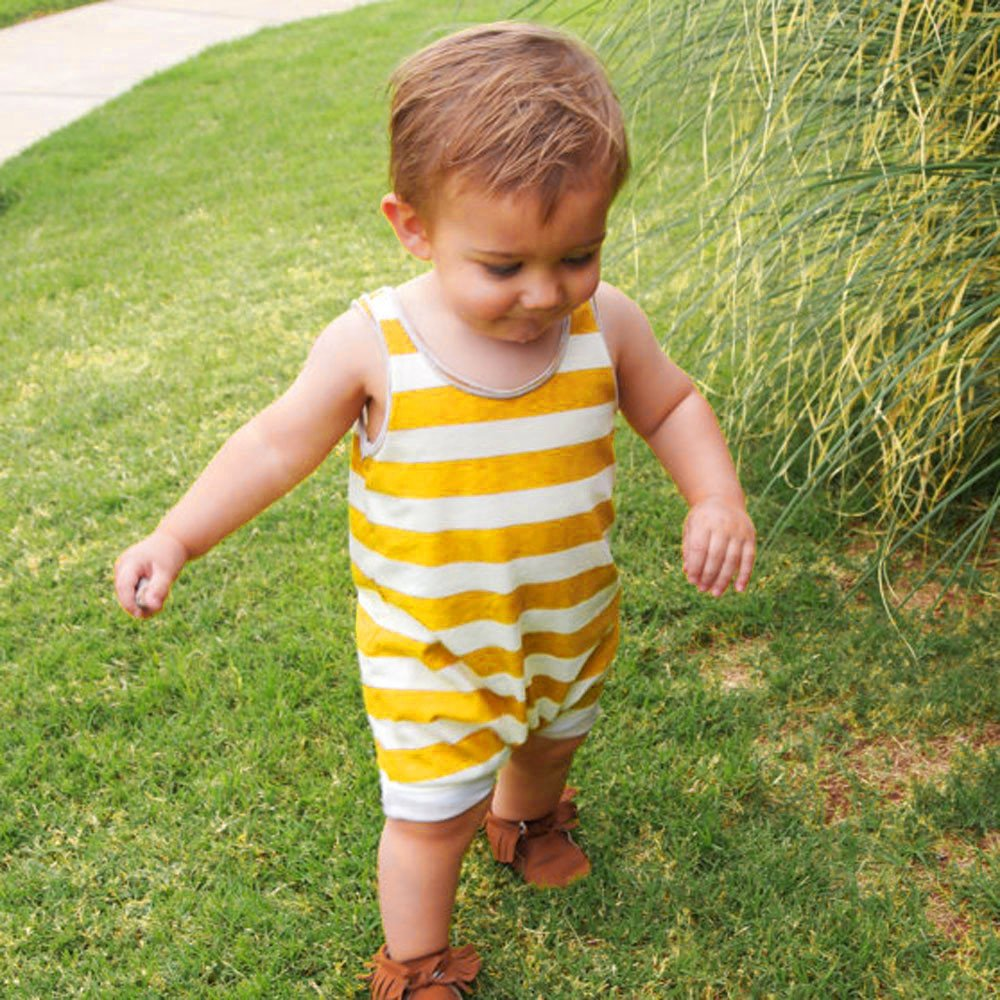 Palarn Stylish Toddler Jumpsuit, Baby Boys&Girls Striped Sleeveless Cute Romper Outfits Clothes by Palarn (Image #4)