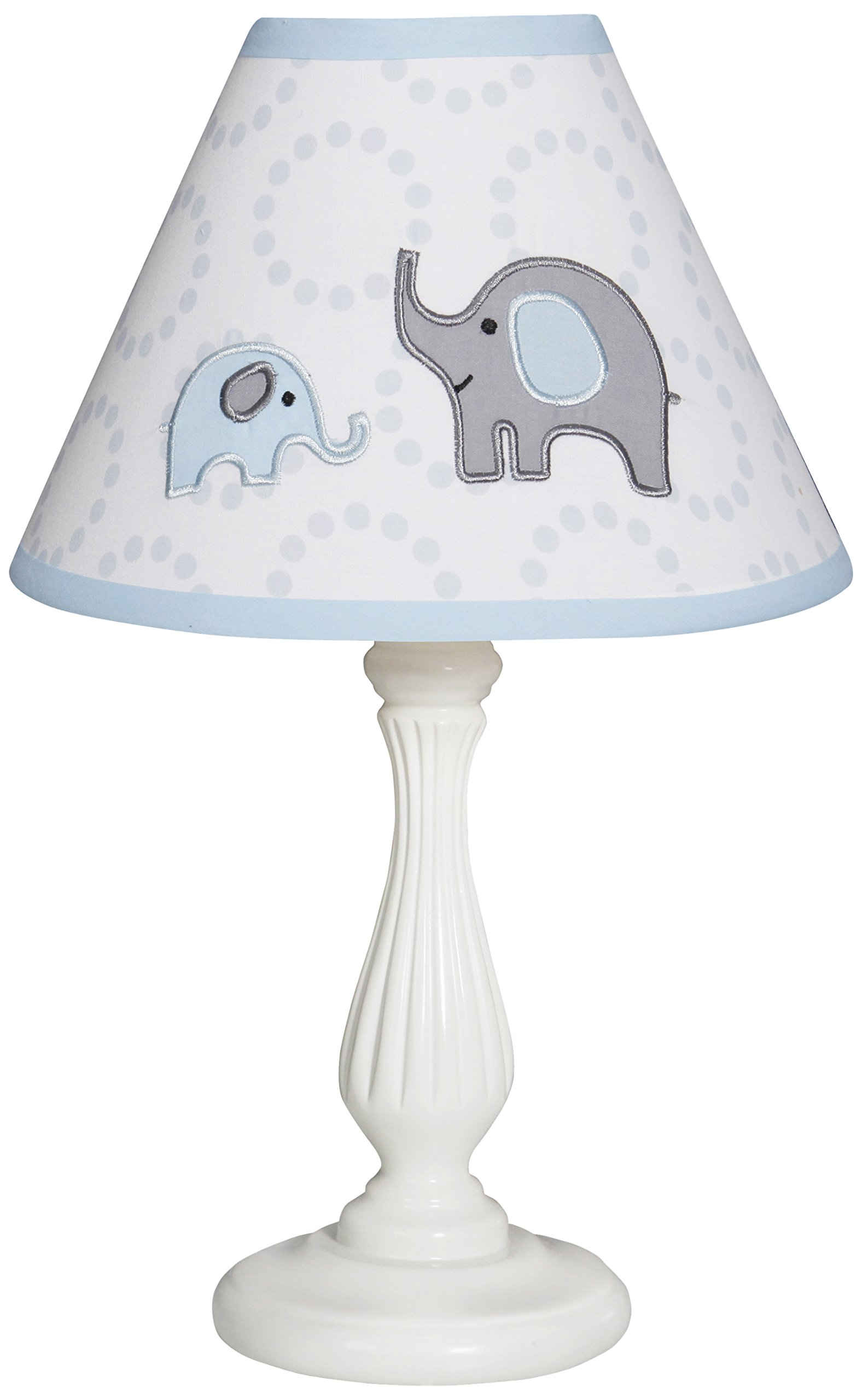 GEENNY OptimaBaby Blue Grey Elephant Lamp Shade Without Base