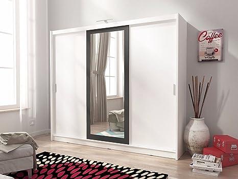 Sarah II 250 cm 3 ante scorrevoli grande specchio camera da letto ...