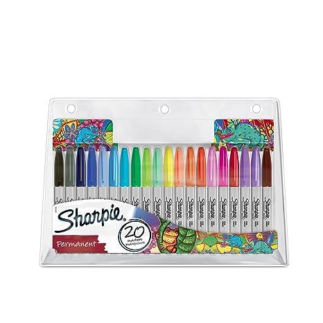 limitiert 20er Pack Sharpie Permanentmarker mit feiner Spitze farblich sortiert