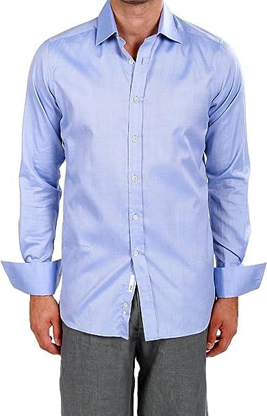 Yves Camisa Superfine para hombre, Color: Celeste: Amazon.es ...