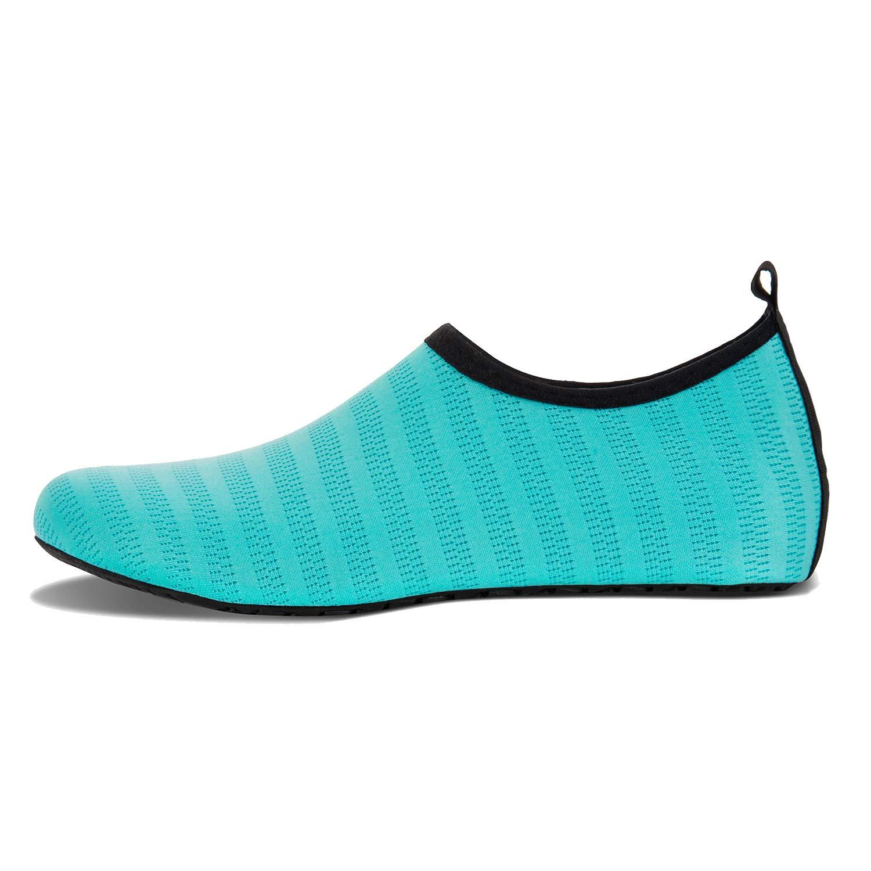 Homme et Femme Chaussures Aquatiques Pieds Nus /à S/échage Rapide Chaussures deau de Sport pour Plage Surf Plong/ée Natation