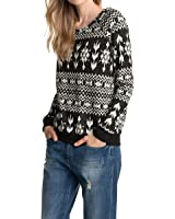 edc by ESPRIT Damen Pullover ethno Jaquard