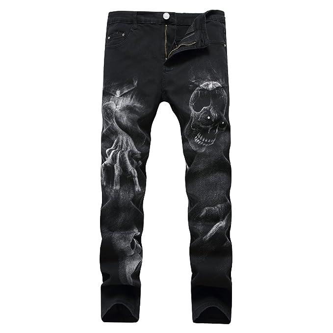 HDYS Estiramiento del hombre negro casual pantalones ...