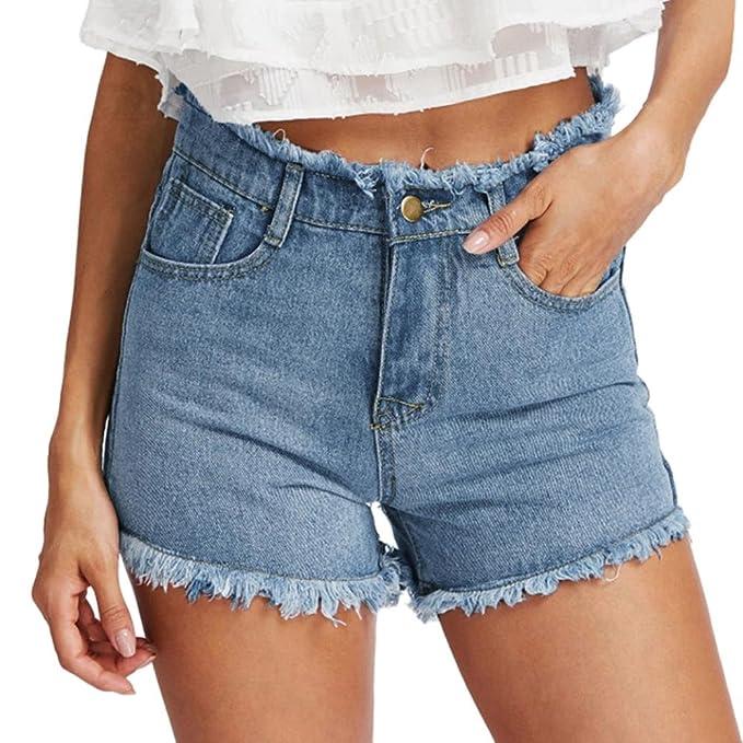 comprare popolare cc093 eaa4f Luoluoluo Short Jeans Donna, Pantaloncini Hot da Donna ...