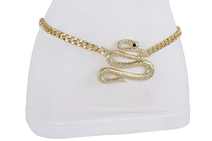 d81a7ab2878d3 Image Unavailable. Image not available for. Colour  TFJ Women Elastic  Fashion Wide Belt Hip Waist Gold Buckle Plus Size M L Xl Black