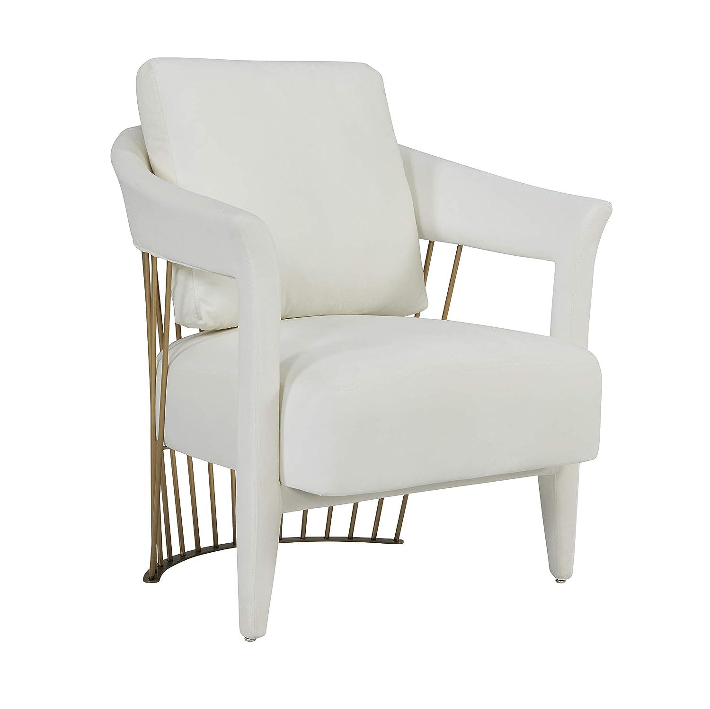 Amazon com tov furniture tov s6213 aztec modern handmade velvet upholstered living room accent chair 30 8 cream kitchen dining