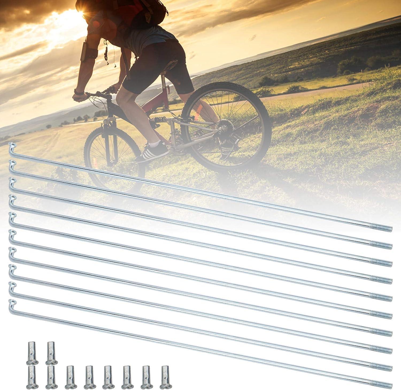 13G 2.2mm Bike Spokes Stainless Steel Spokes Bicycle Tricycle Bend Bicycle Steel Spokes Bike Spokes and Nipples 10pcs Bicycle Spokes