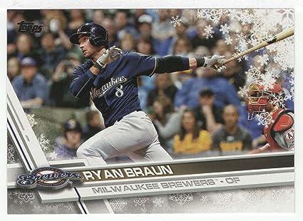 Amazoncom Ryan Braun Baseball Card 2017 Topps Walmart Holiday