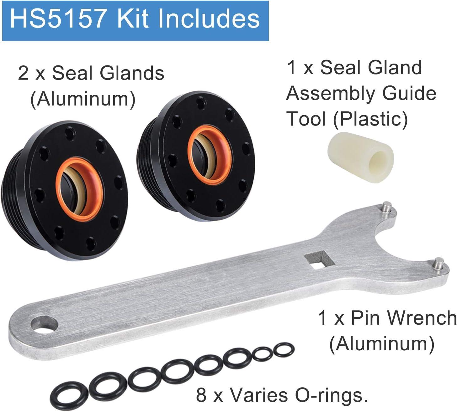 Bleed Kit Filler Kit /& Steering Support Bracket Puller /& #HS5157 Front Mount Hydraulic Steering Cylinder Seal Kit Fits for Seastar Uflex HC5341 HC5348 HC5358 HC5365 HC5375 HC5394 HC5445 HC6750 HC6755
