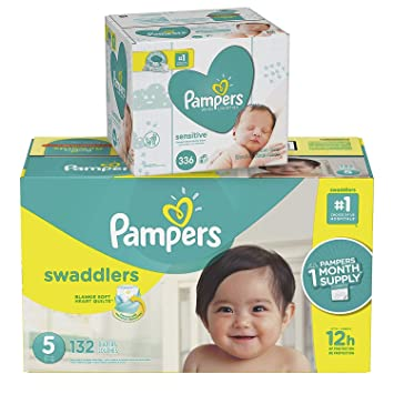 Pampers Swaddlers Disposable Baby Diapers Size 5 27b891b3d