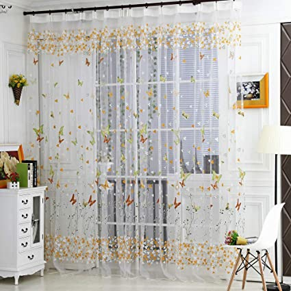 Amazon.com: Extra Wide Linen Sheer Curtains - Linen White ...