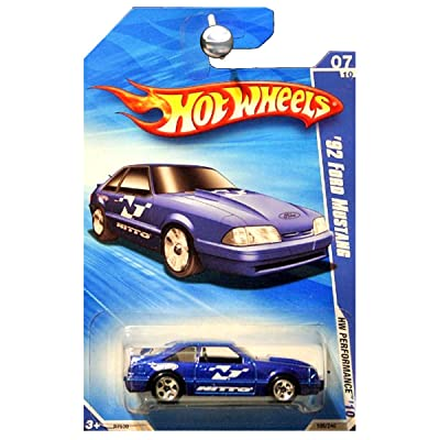 Hot Wheels HW Performance 1992 92 Ford Mustang Fox Body Nitto in Blue KMART EXCLUSIVE: Toys & Games