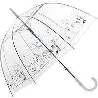 TIENDA EURASIA® Paraguas Transparente - Diseño Original - Frases Divertidas - Apertura Automática - ø85x84cm (Animales)