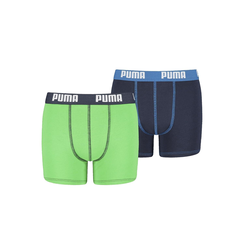 PUMA Kinder Jungen Basic Boxershort 2er oder 4er in vielen Farben , Farbe: poison green , Gr. 158/164 - 4er 521015001