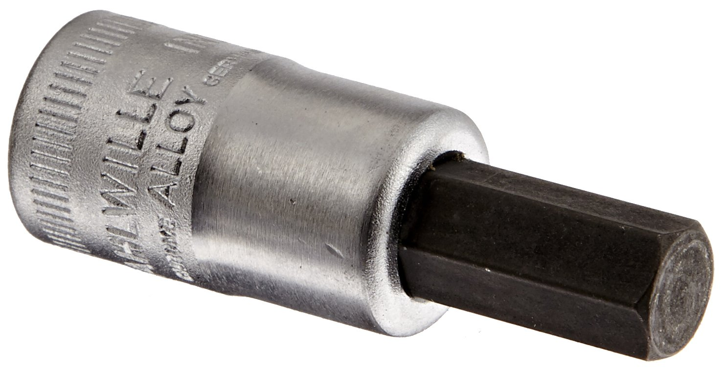 Stahlwille 49A-3/8 Steel Index Socket, 3/8'' Drive, 3/8'' Diameter, 52mm Length, 17.8mm Width