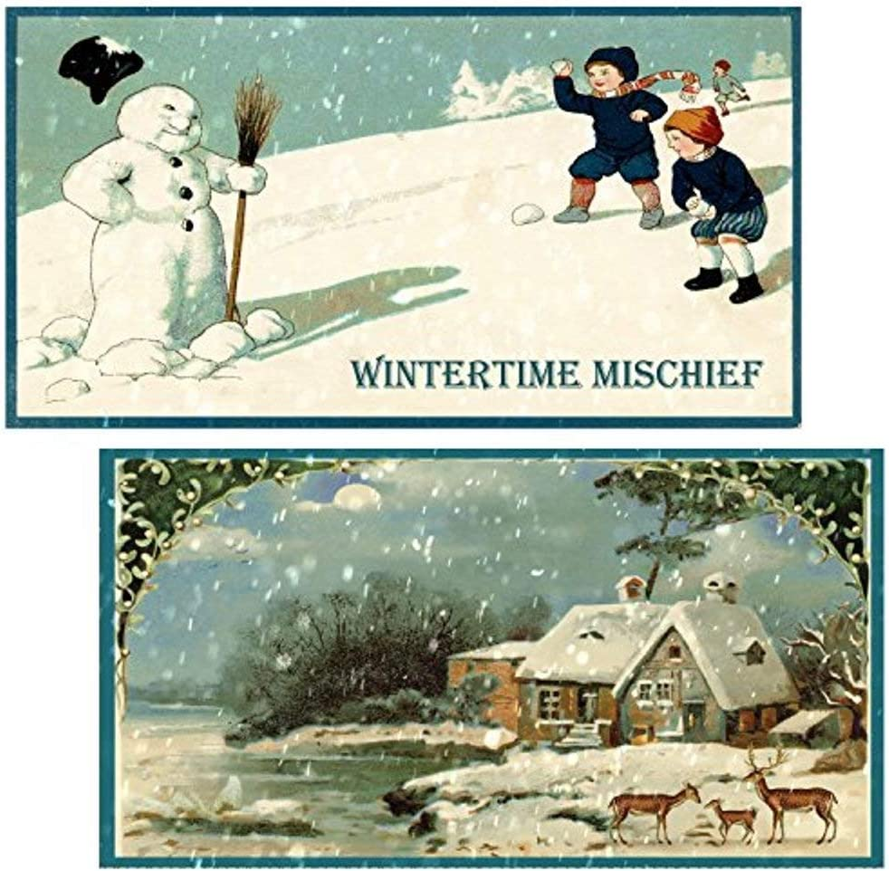 Set of 3 Match Boxes Decorative Matches, Winter Wonderland Long Wooden Matches,Strike Strip on Side of Box- Colored Match Tips- Candle and Fireplace Wooden Matches 4.375 x 2.35 x .75