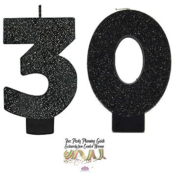Amazon.com: Paquete de velas de 30 cumpleaños, diseño de ...