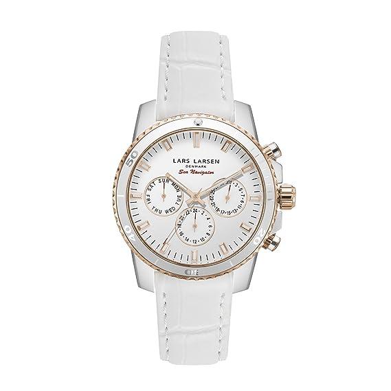 Lars Larsen lw42 Reloj de Cuarzo para Mujer con Blanco ...