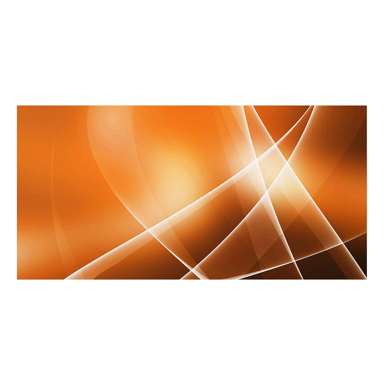 Bilderwelten Glass Splashback - Orange Sound - Landscape 1:2, Backsplash Cooker Splashback Protector Panel Decorative Splashback Panel, Dimension HxW: 40cm x 80cm PPS. Imaging GmbH