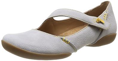 Clarks Felicia Plum Ballerinas in rot Damen Schuhe