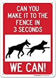 "Beware of Dogs Sign - 14""x10"" .040 Rust Free Aluminum - Made in USA - UV Protected and Weatherproof - A82-461AL"