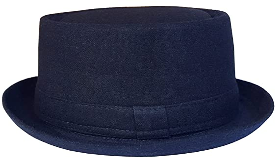 f49b0333b3a Mens or Womens Pork Pie Hat New Trilby Cap in Black or Navy Sizes  55-61  cm  Amazon.co.uk  Clothing