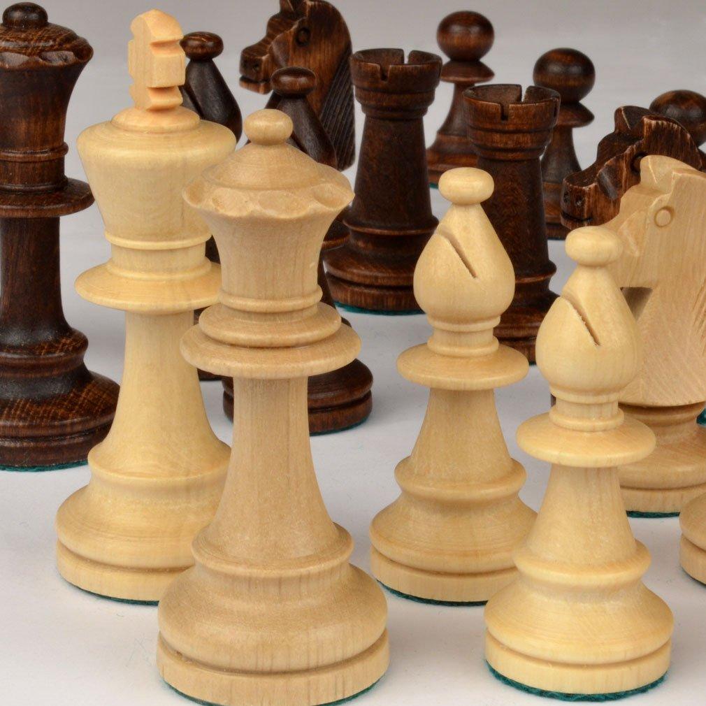Amazoncom Staunton No 5 Tournament Chess Pieces w Wood Box by