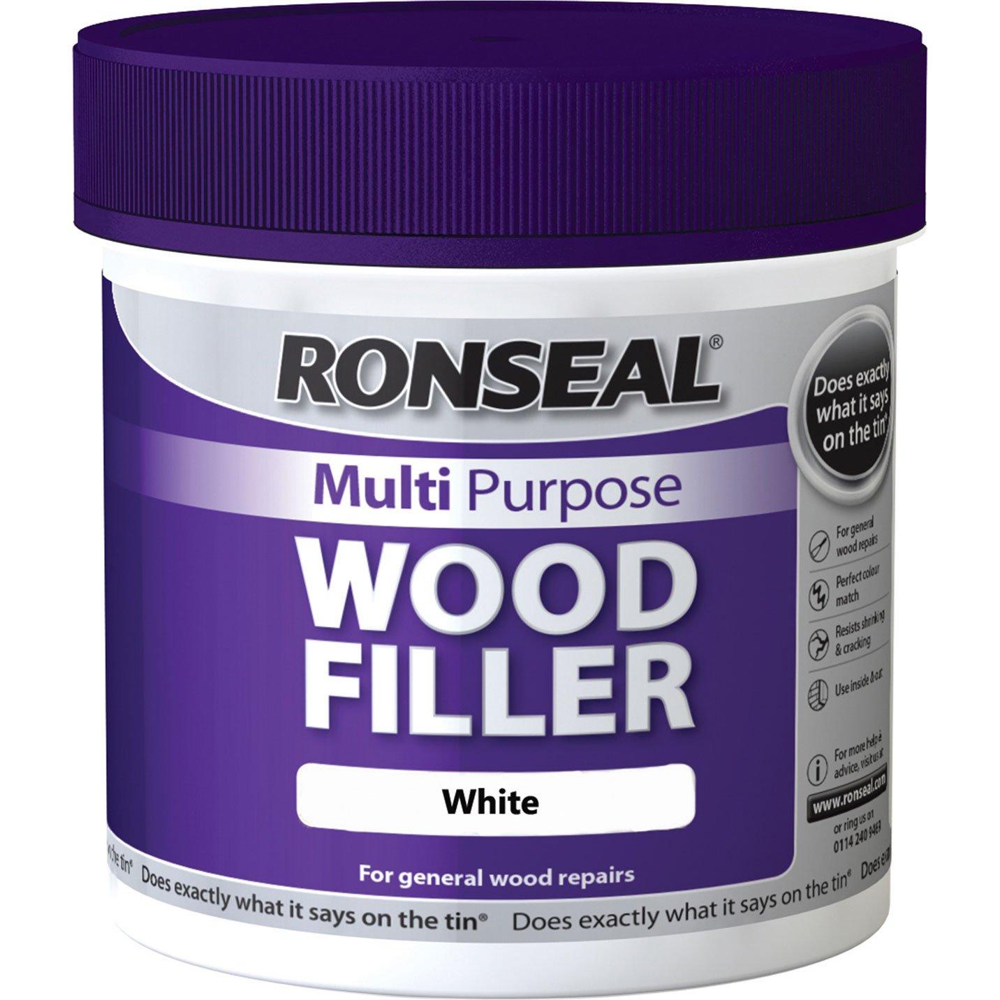 Ronseal MPWFW465 tube de remplissage multifonctions pour bois, blanc, 465 g 465g