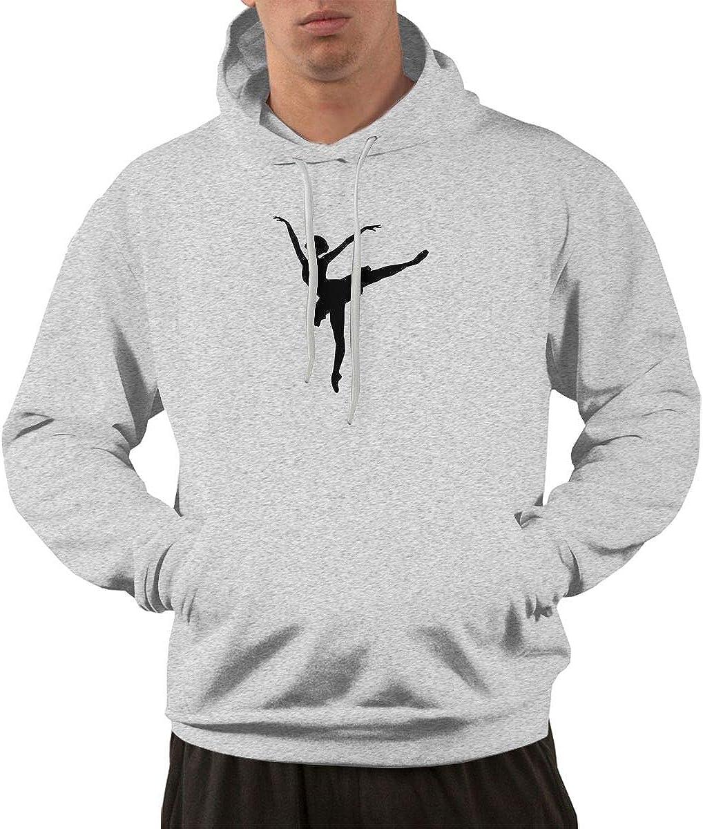 Iponvx Ballerina Hoodie Mens Performance Active Hooded Sweatshirt