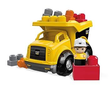 Mattel Mega Bloks First Builders Cnd88 Cat Kipplaster Amazonde
