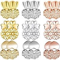 ZoWe Magic Earring Backs Lifters, 9 Pares de elevadores de Pendiente hipoalergénicos Ajustables para Todos los…