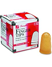 Swingline Medium/Large Rubber Finger Tips, Size 12, 12-Pack, (S7054032C)