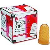 Swingline 54032 Rubber Finger Tips, 12 (Medium-Large), Amber (Pack of 12)