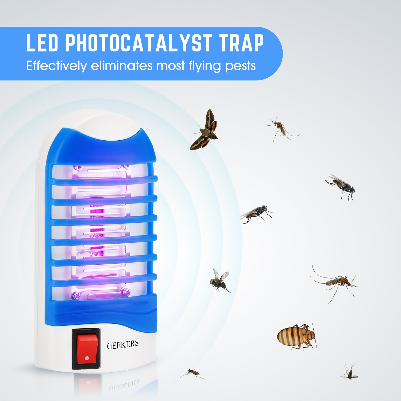 Amazon.com : S SAVHOME Bug Zapper, Electric Gnat Trap Indoor ...