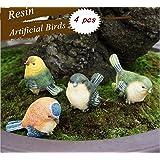 4pcs simulación de pequeño diseño de pájaros figura modelo Estatua Figura decorativa Decoración para jardín hogar escritorio