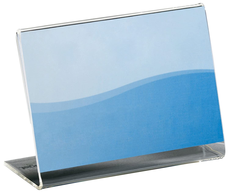 Sigel PA105 Porta-info e porta-prezzi da tavolo, trasparente, acrilico, per A9 orizzontale, 10 pz.