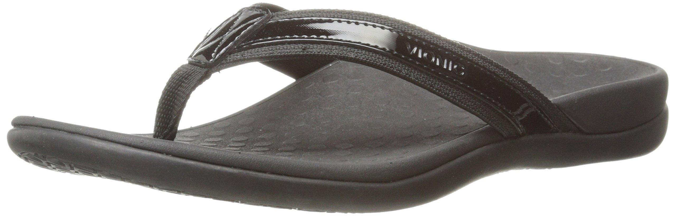 Vionic Orthaheel Womens Tide II Sandal Black Size 8