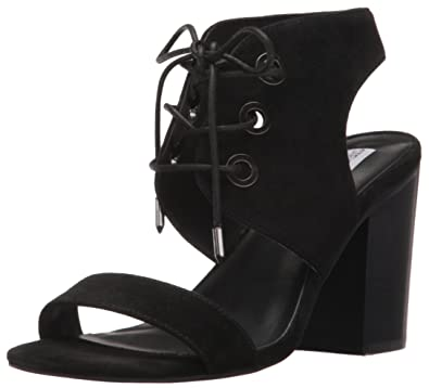 Steve Madden Women's Elgin Dress Sandal, Black Suede, ...